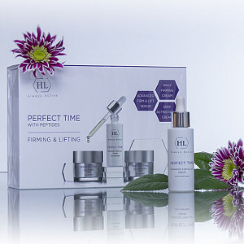 Holy Land PERFECT TIME KIT| Набор: PERFECT TIME ADVANCED FIRM & LIFT SERUM 30 мл, PERFECT TIME DAILY FIRMING CREAM 50 мл, PERFECT TIME DEEP ACTING NIGHT CREAM 50 мл